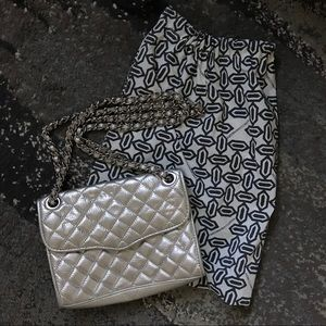 Rebecca Minkoff Silver Quilted Purse / Crossbody